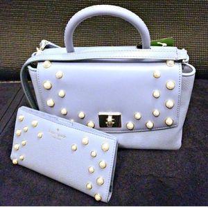 NWTKate Spade Shona Serrano Place Pearl Bag/Wallet